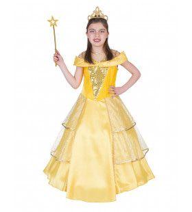 Prinses Bella Mooiste Van Het Hof Meisje Kostuum