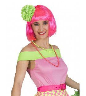 Rockn Roll Top Blote Schouders Roze Vrouw