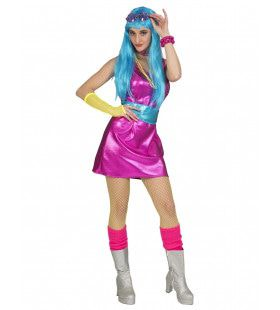Lekker Knal Kleurtje Disco Vrouw Kostuum