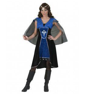 Dappere Ridder Middeleeuwen Loevestein Vrouw Kostuum