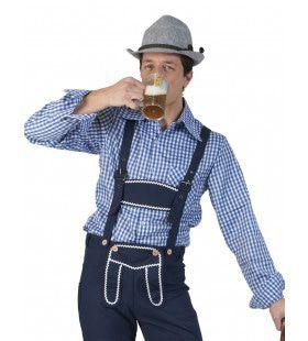 Blauw Geruite Gunther Tirol Blouse Man