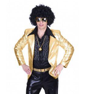 Glanzend Goud Disco Godheid Colbert Man
