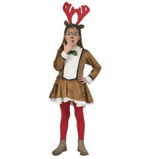 Zonder Rendier Geen Kerst Meisje Kostuum