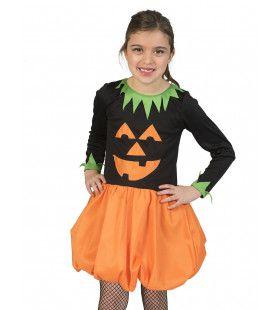 Afgrijselijke Pompoen Halloween Meisje Kostuum