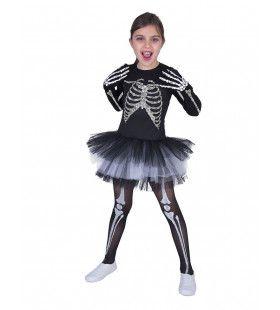 Dansend Ballet Skelet Meisje Kostuum