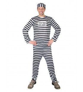 Alcatraz Gevangene Boef Man Kostuum