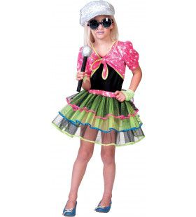 Glitter Disco Rock Ster Cindy Meisje Kostuum