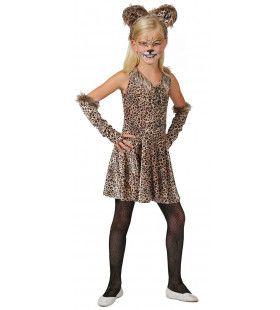 Lenig Sluipend Luipaard Meisje Kostuum