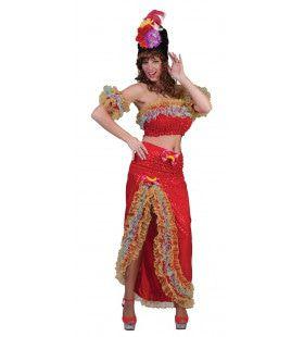 Onstuimige Salsa Danseres Brasilia Vrouw Kostuum