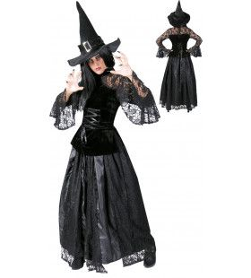 Griezelige Duistere Machten Heks Vrouw Kostuum
