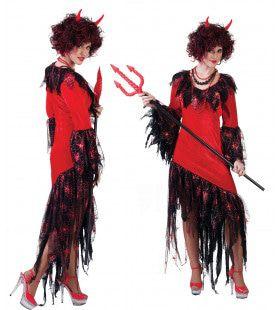 Verleidelijke Sinistere Satan Vrouw Kostuum
