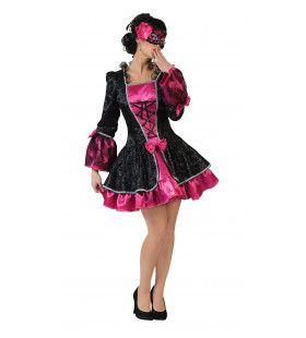 Barokke Vicky Venetie Vrouw Kostuum