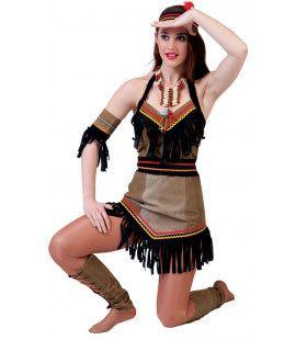 Troebele Horizon Indiaan Squaw Vrouw Kostuum