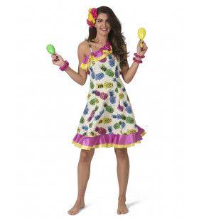 Tropisch Samba Costa Rica Ananas Vrouw Kostuum