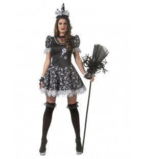 Verleidelijke Snoep Heks Enge Lollies Vrouw Kostuum