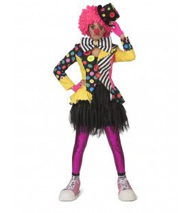 Enorme Knopen Jas Clown Augustina Vrouw