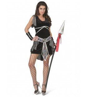 Ga Maar Alvast Liggen Griekse Strijder Helene Vrouw Kostuum