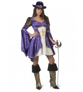 Vijfde Musketier Dappere Diana Vrouw Kostuum