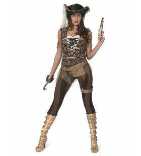 Wreed Wrede Kaper Piraat Wendy Vrouw Kostuum