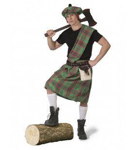Wereldkampioen Highlander Games Schotland Man Kostuum
