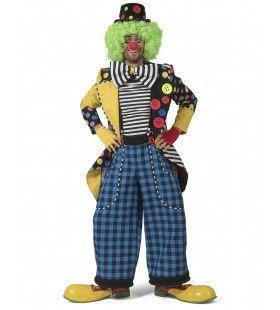 Enorme Knopen Jas Clown August Man Kostuum