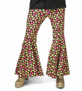 Fluor Flower Power Goes Disco Broek Man
