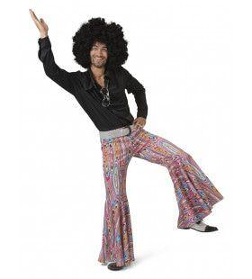 Zwart Shirt Disco Dancer John Man