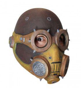 Volledig Gasmasker Steampunk Piloot