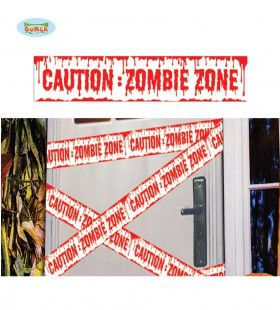 Afzetlint Caution Zombie Zone 600 X 12 Centimeter