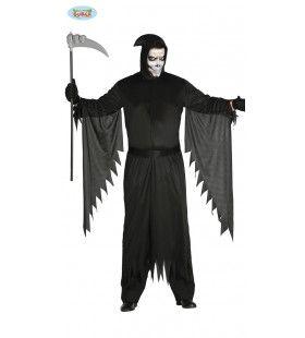 Zwart Als De Dood Beul Man Kostuum