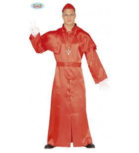 Ave Papa Kardinaal Man Kostuum