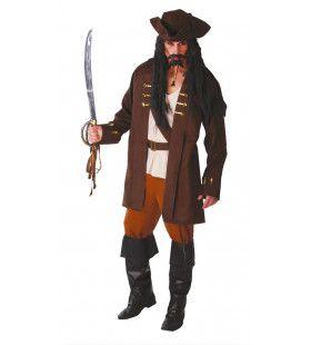 Wrede Piraat Man Kostuum