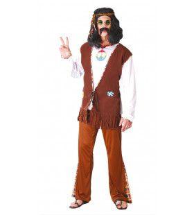 Peace Man Hippie Kostuum