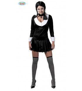 Gothische Adams Student Vrouw Kostuum
