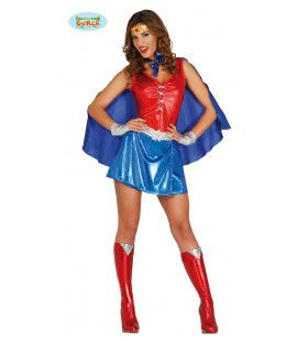 Super Sterke Wonder Woman Vrouw Kostuum
