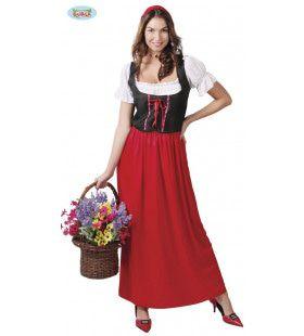 Italiaanse Schone Zeventiende Eeuw Vrouw Kostuum