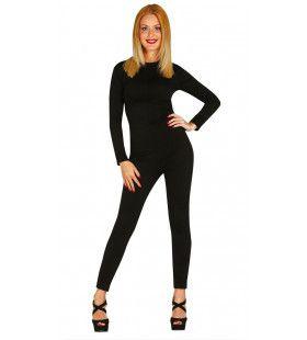 Catsuit Zwart Vrouw Kostuum