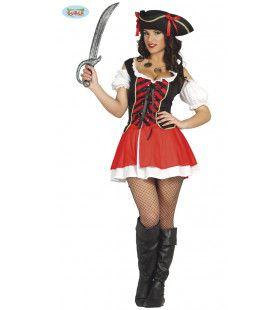 Pia Pikante Pirate Vrouw Kostuum