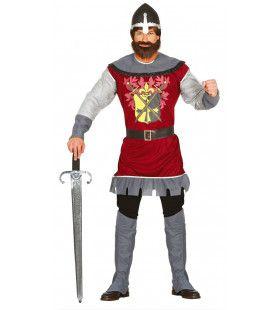 Kruistocht Ridder Rood Man Kostuum