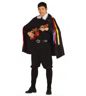 Troubadour Uit De Middeleeuwen Man Kostuum