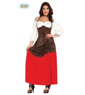 Barvrouw Herberg Middeleeuwen Kostuum