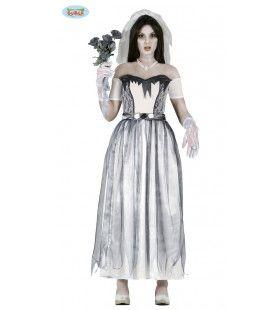 Angst Voor Het Altaar Bruid Vrouw Kostuum