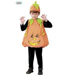Enge Halloween Pompoen Jongen Kostuum
