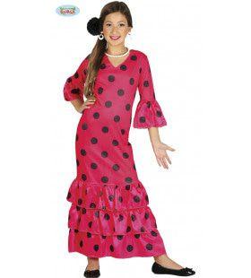 Anna Andalusie Flamenco Meisje Kostuum