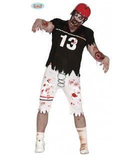 Een Tackle Te Veel American Football Zombie Man Kostuum