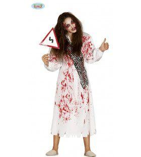 Slachtoffer Van Het Verkeer Zombie Vrouw Kostuum
