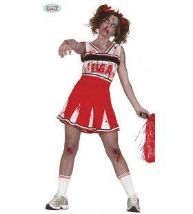 Zet Hem Op Zombies Cheerleader Vrouw Kostuum