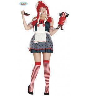 Dolgedraaide Horror Pop Vrouw Kostuum