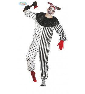 Doldwaas Drukke Pierrot Man Kostuum