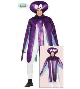 Paarse Diepzee Octopus Kostuum
